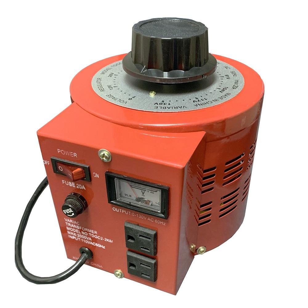 2000VA Variable AC Power Supply (TDGC2-2KM  Metered Variac)