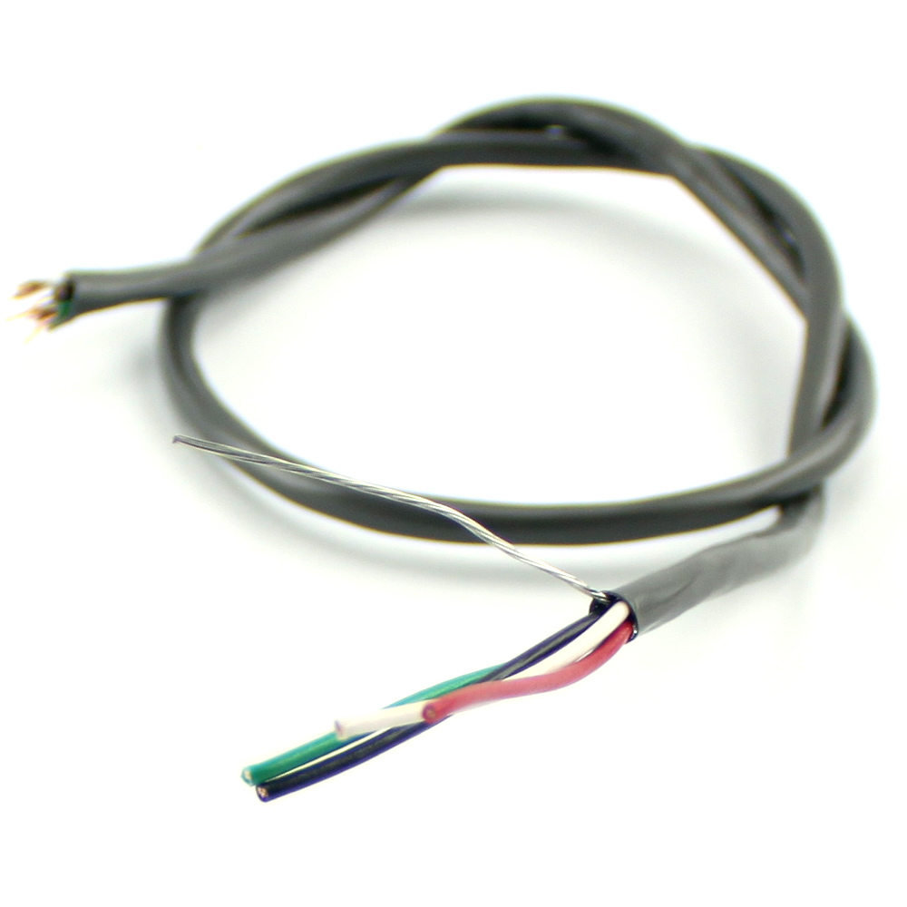 4 Wire Shielded Motor Cable, 5 ft long