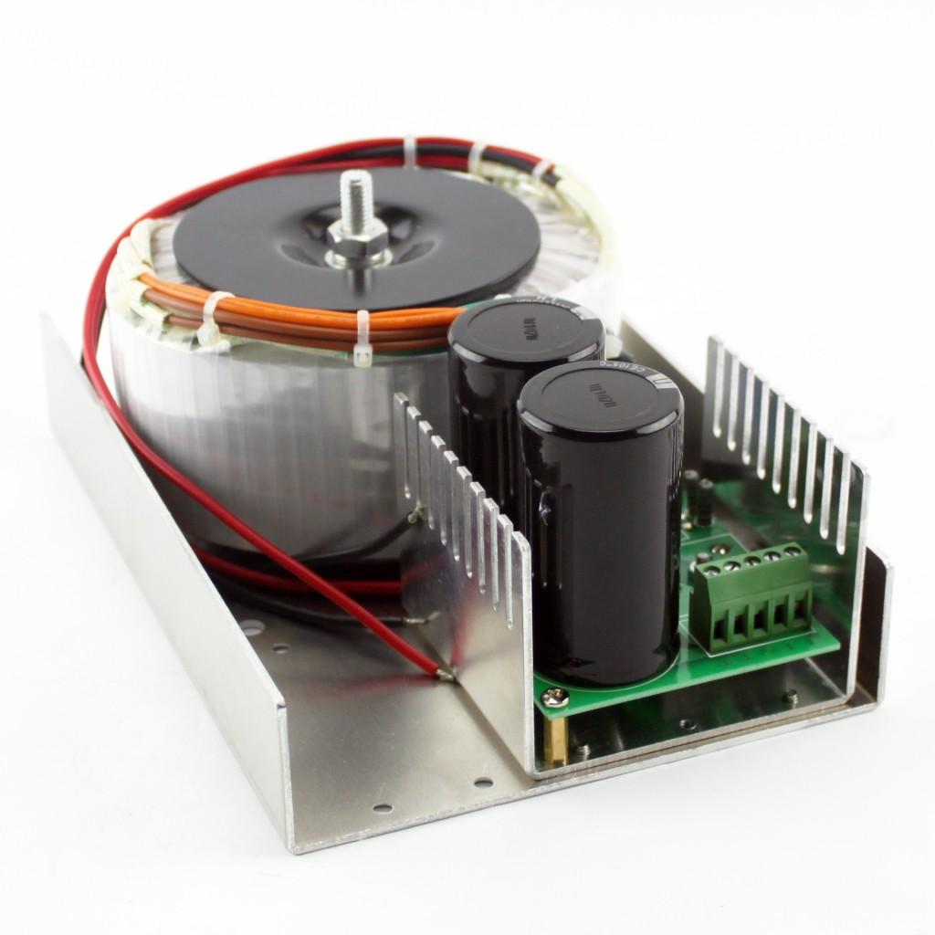 Unregulated Linear 38VDC/15A Toroidal PSU (KL-3815) with 5V, 1A