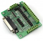 KL-DB25 Opto-Isolated Breakout Board, 6 Axis