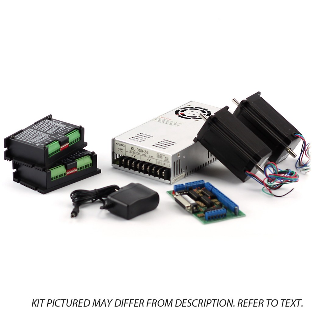 2-Axis NEMA23 CNC Kit (48V/7.3A 570 oz in KL-5056 Stepper Driver)
