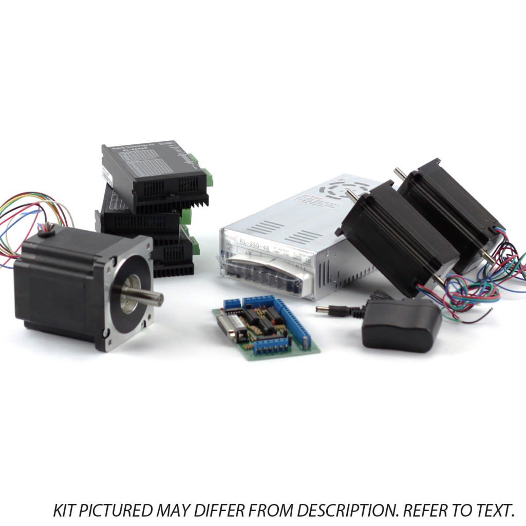 3-Axis NEMA23, 34 Sieg Kit (1x 906 oz/in, 2×570 oz/in, 3 Digital Drivers)