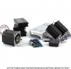 3-Axis NEMA23,34 Stepper Motor Kit (1x 1200 oz/in, 2x570oz/in, 3 Digital Stepper Drivers, etc)