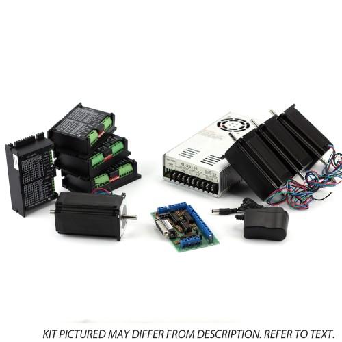 NEMA23 4-Axis CNC Kit (48V/12.5A 570oz-in KL-5056D) (110V/220VAC)