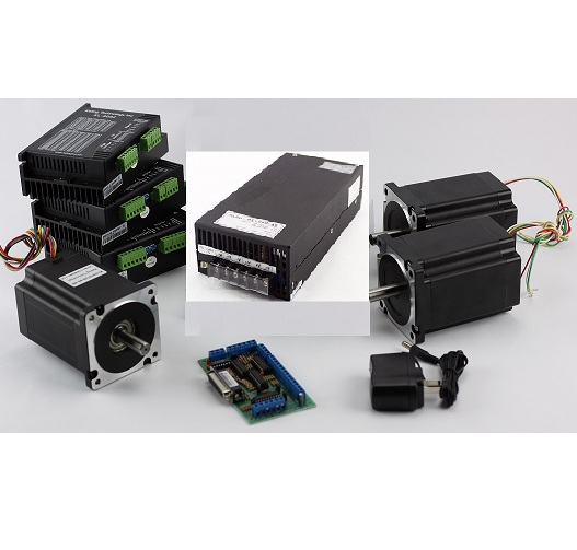 3-Axis NEMA34 CNC Kit (48V/12.5A/ 640 oz-in / KL-5056Stepper Driver)
