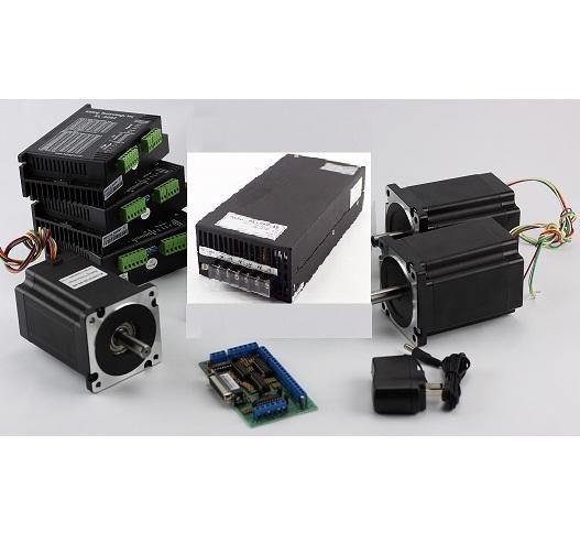 3-Axis NEMA34 CNC Kit (48V/12.5A/ 640 oz-in / KL-5056Stepper Driver)