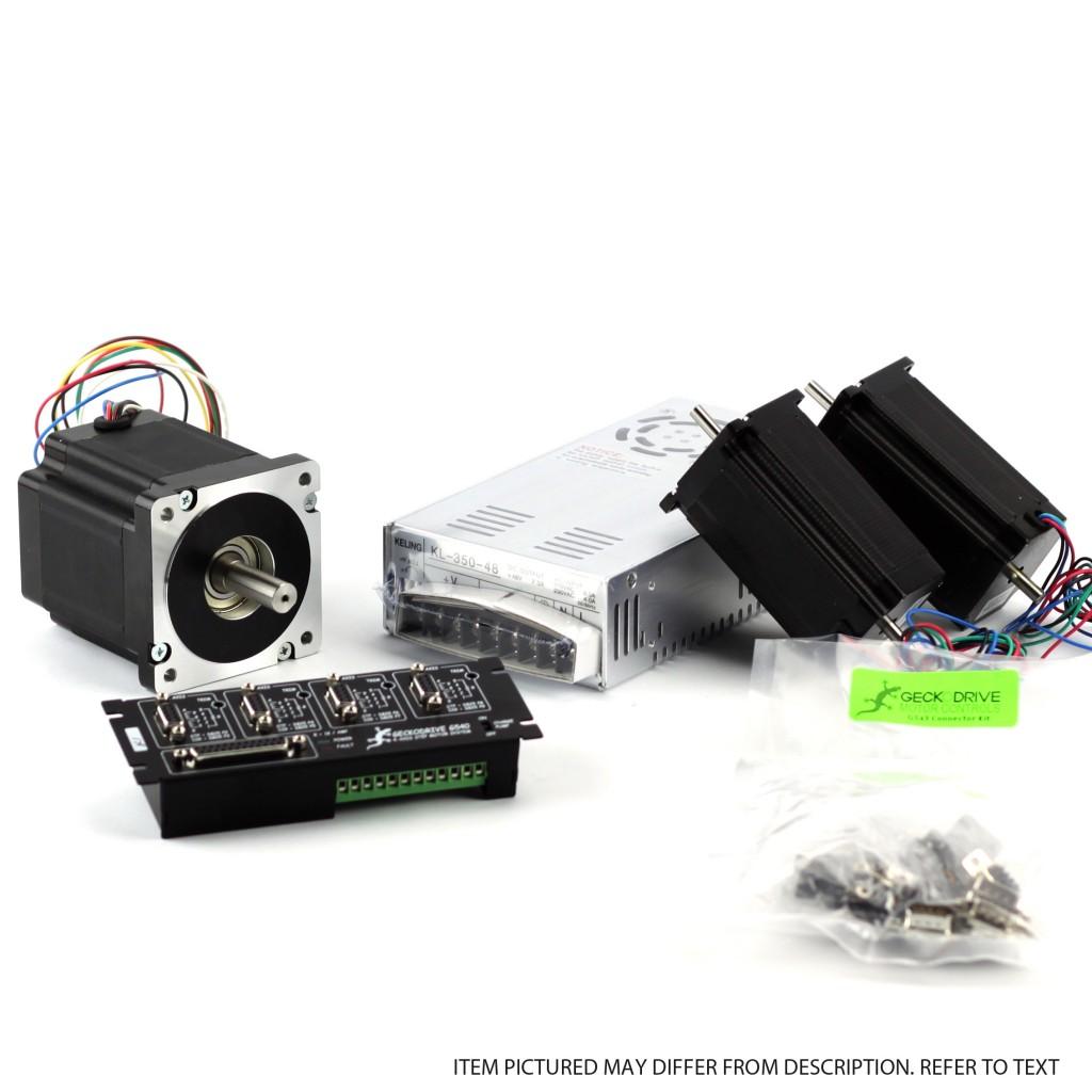 G540 4-Axis -With NEMA23 381 oz in – NEMA34 906 ozin – PSU 48V/12.5A