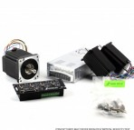 G540 3-Axis NEMA23 381oz in PSU48V/7.3A, dual shaft Stepper Motor
