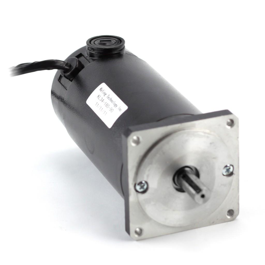 NEMA34 1125oz/in Dual Shaft Servo Motor KL34-180-90, SKEWED ROTOR DESIGN