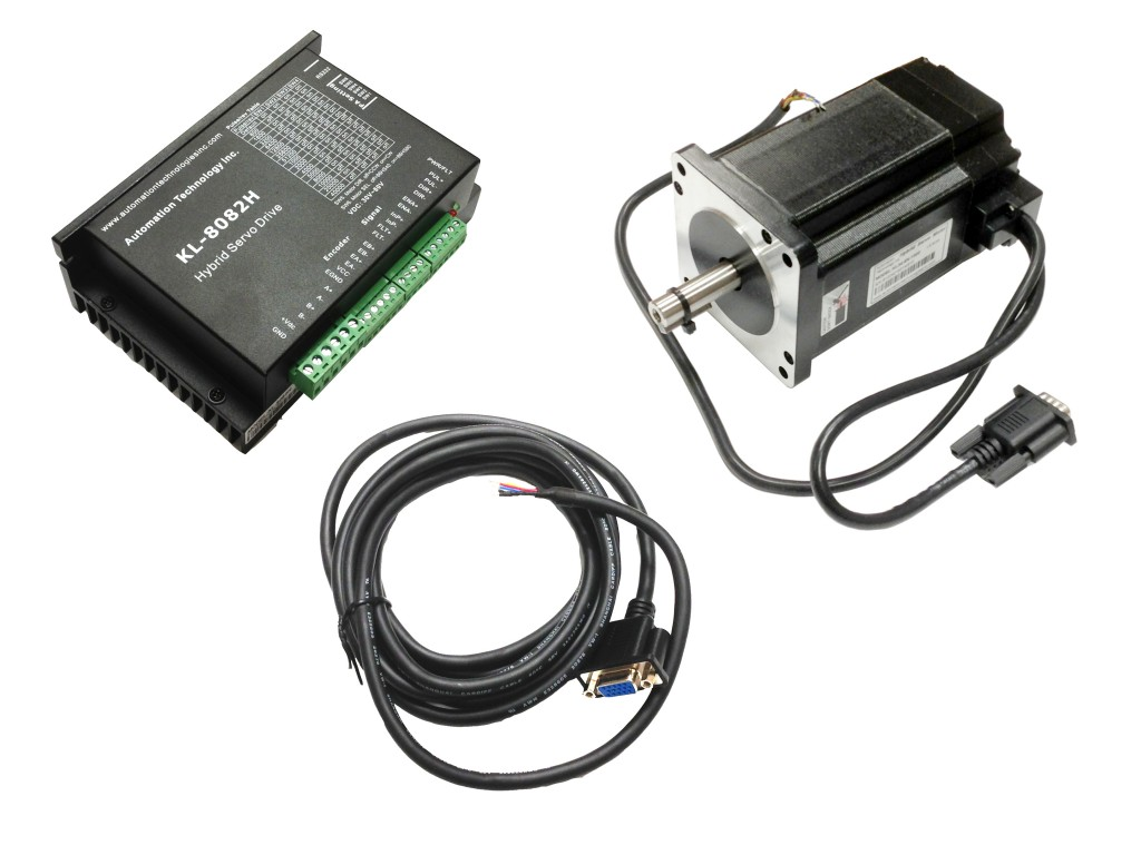 NEMA34 Closed Loop Stepper Motor System- Hybrid Servo Kit-32 bit DSP Based, 1128 oz-in