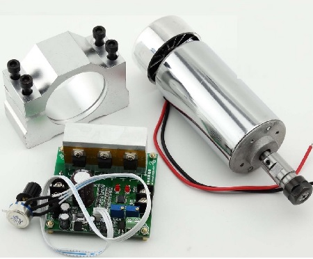 CNC Router 400W Air Cooling Spindle Motor ER11, Mach3 PWM Controller, 52mm Mount