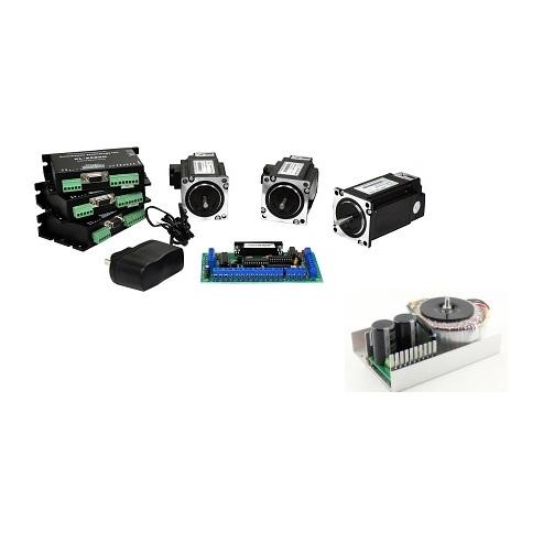 NEMA34 1128 oz-in closed-loop stepper Motors 3 Axis CNC Kit (110VAC/220VAC)