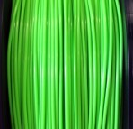 ABS Filament 1.75mm Dia,  NEON Green, on Spool, 1Kg/2.2Ibs
