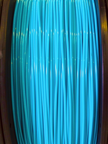 ABS Filament 1.75mm Dia,  NEON Blue, on Spool, 1Kg/2.2Ibs