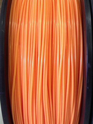 ABS Filament 1.75mm Dia, NEON Orange, on Spool, 1Kg/2.2Ibs