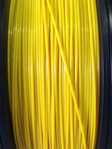 ABS Filament 1.75mm Dia, Yellow, on Spool, 1Kg/2.2Ibs