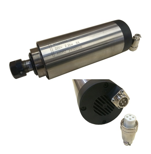 2200W (3HP) Air Cooling CNC Milling Spindle ( Round)