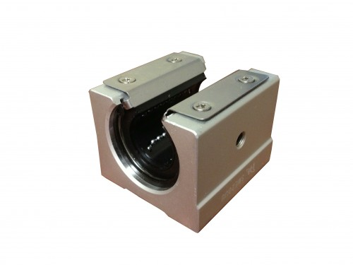 25 mm Aluminum Shaft Support-Open (Pre-installed Bearing LME25UU-Open 25mm)