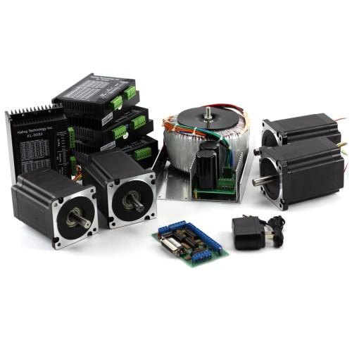 NEMA 34 906 oz-in Stepper Motors 4 Axis CNC Kit: