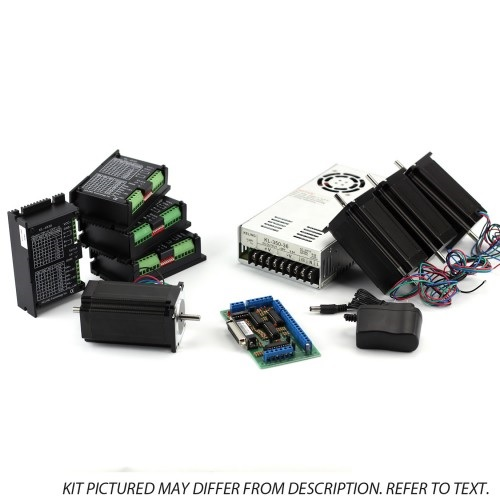 NEMA 34 640 oz-in Steppper Motors 4 Axis CNC Kit: