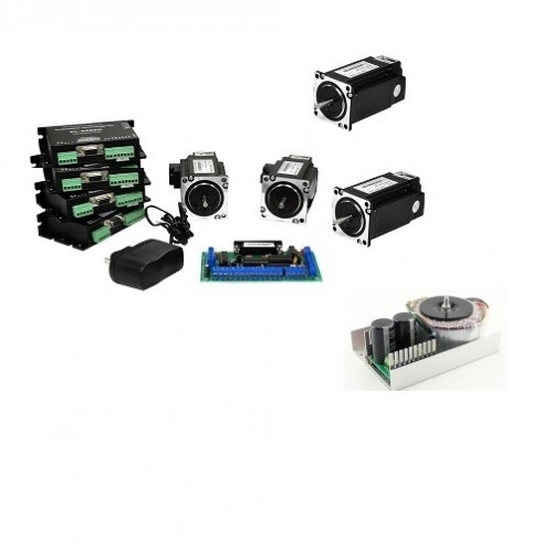 NEMA34 1128 oz-in closed-loop stepper Motors 4 Axis CNC Kit (110VAC/220VAC)