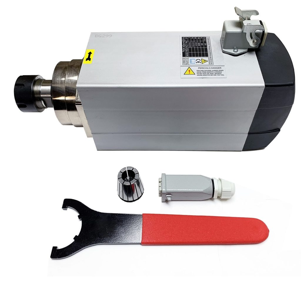 4.5KW ( 5.36HP) AIR-COOLED SPINDLE, Square