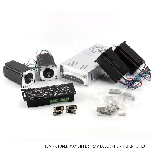 G540 4-Axis kit (115V/230VAC), NEMA23 381oz in, PSU 48V/12.5A