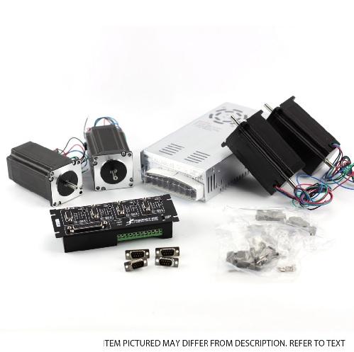 G540 4-Axis kit (115V/230VAC), NEMA23 381oz in, PSU 48V/12.5A