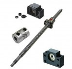 1 pcs Antibacklash ballscrew 1605 -L300mm-C7+BK/BF12 + 2pcs 6.35*10mm couplers, 300mm is the overall length