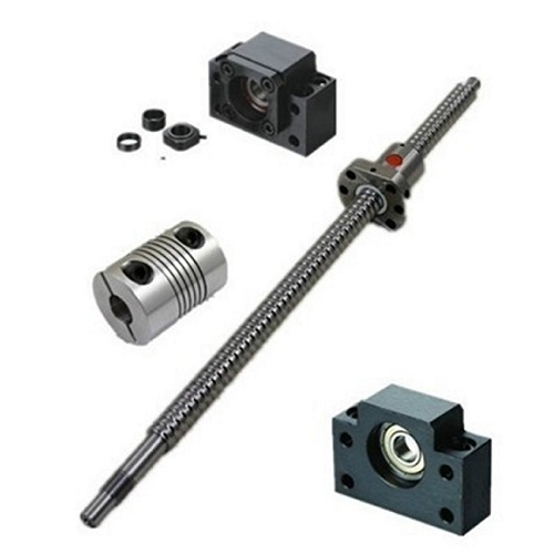 1pcs Antibacklash Ballscrew SFU1605-C7- L400mm-C7+BK/BF12 + 1pcs 6.35mm*10mm Couplers, 400mm is the overall length