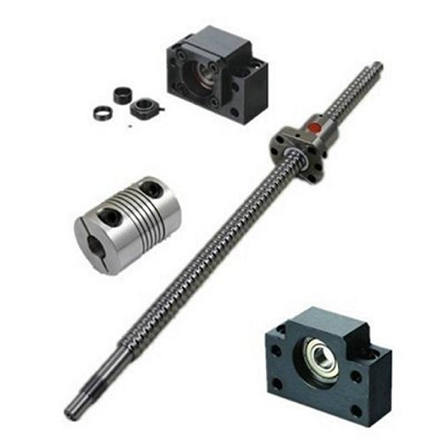 1pcs Antibacklash Ballscrew SFU1605-C7- L400mm-C7+BK/BF12 + 1pcs 6.35mm*10mm Couplers, 400mm is the overall length