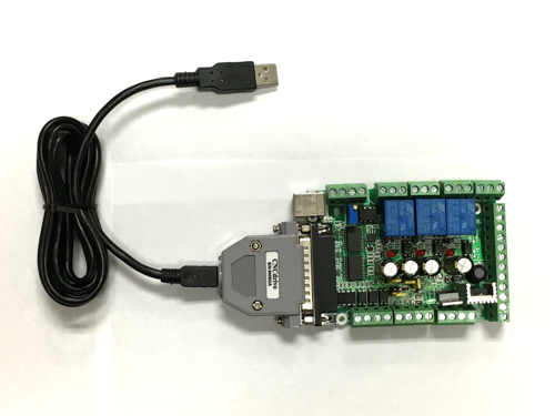 6-Axis Motion Control Board with Relay and Spindle Control, USB Connection