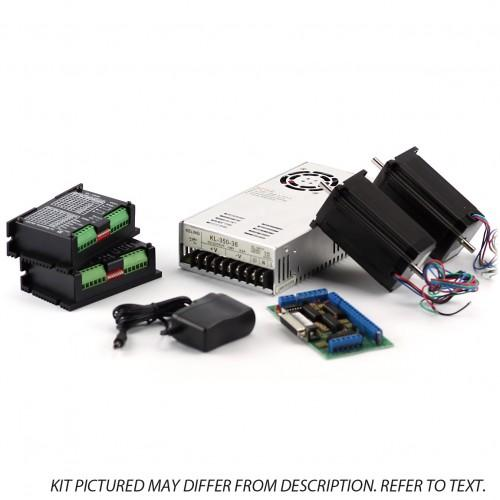 2-Axis NEMA23 CNC Kit (48V/7.3A 570 oz in, KL-5056 Stepper Driver) 3/8 inch shaft