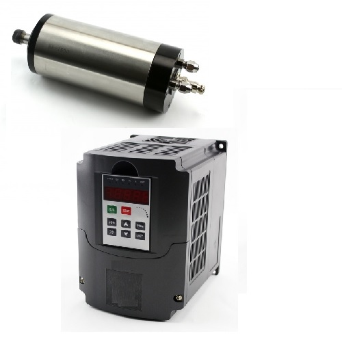 1.5KW VFD Spindle Inverter (KL-VFD15), 110VAC Input With 1.5KW Water Cooled Spindle, 110VAC
