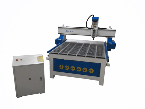 KL-1212 CNC Router 48 x 48 inch, T slot,  Vacuum Table, Helical Rack and Pinion with Ethernet Connection