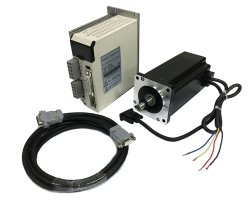 110AC NEMA34 Closed Loop Stepper Motor, Driver Hybrid Servo Kit,1699 oz-in, Shaft size 1/2″