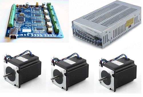TinyG NEMA23 280 oz-in 3 axis Kit (Without TinyG)