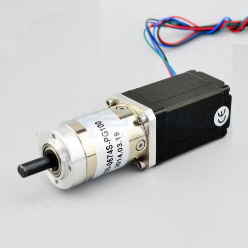 5:1 Planetary Gearbox Dual Shaft Nema 11 Stepper Motor DIY Robot