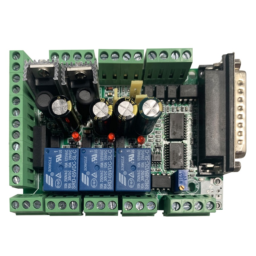 CNC 6-Axis Interface Breakout Board with Relay and Spindle control, KL-DB25-6
