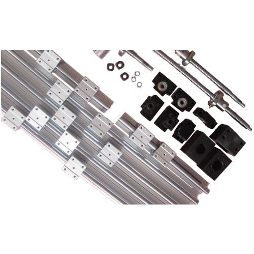3 SBR16 Rails+3 Ballscrews RM1605+3 Sets BK/BF12 +3 Couplers
