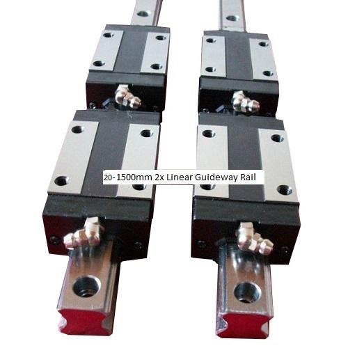 20-1500mm 2x Linear Guideway Rail profile, 4x Pillow block carriage bearing block