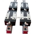 25-1500mm 2x Linear Guideway Rail 4x Square type carriage bearing block