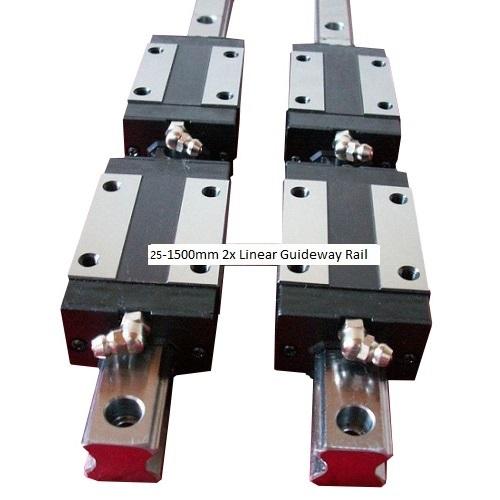 25-1500mm 2x Linear Guideway Rail 4x Square type carriage bearing block