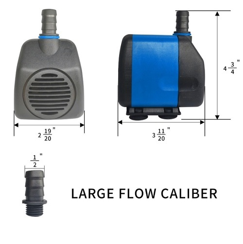 265 GPH Submersible Fountain Waterfall Water Pump for CNC