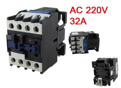 Motor Control AC Contactor 32 Amp, 3 Poles NO Coil 220 Volts CJX2-3210