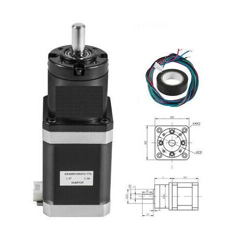 Gear Nema17 1.5A 42mm ratio 100:1 Planetary Gearbox stepper motor