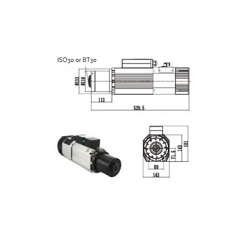 KL-7500A ATC Automatic Tool Changer, 380VAC, Max 24000 RPM, Max 7500W