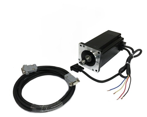NEMA 34 Closed Loop Motor: KL34-11N-1000:  1699 oz-in, shaft size: 1/2″ with Cable
