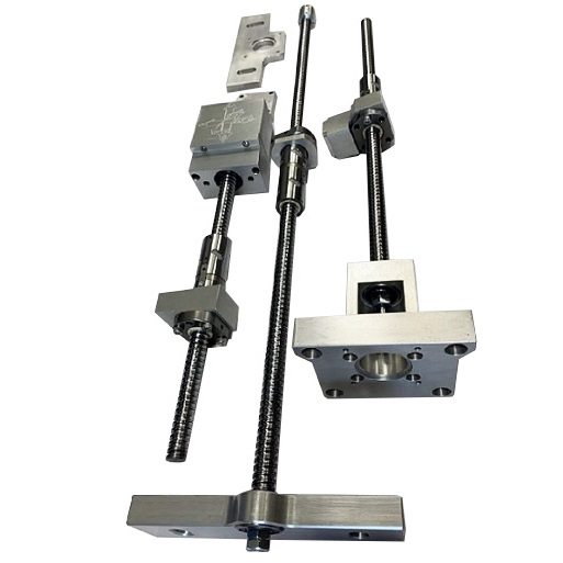 G0704 Mill CNC Conversion Kit with Ballnut Mounts, Ballscrews with DUF Ballscrew