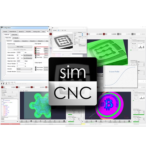 SimCNC control software for CNC by CS-Lab – Perpetual License